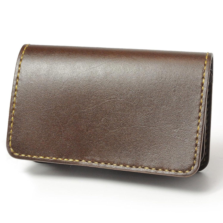 ミドルウォレット B-10 革財布 フラップレス サドルベーシック サドルレザー ブラック ナチュラル ブラウン ハンドメイド B01F1NS0R0ブラウン/コインケース:A ドロップハンドル(シルバー色)