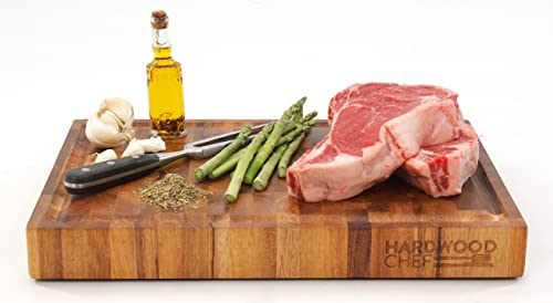 Hardwood Chef Premium Thick Acacia Wood End Grain Cutting Board