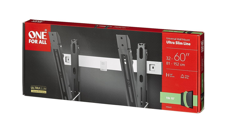 /Écrans de 32 /à 84/pouces WM6611 Tous types de t/él/éviseurs Fixation murale Noir Support plat Ultra Slim de One/For/All