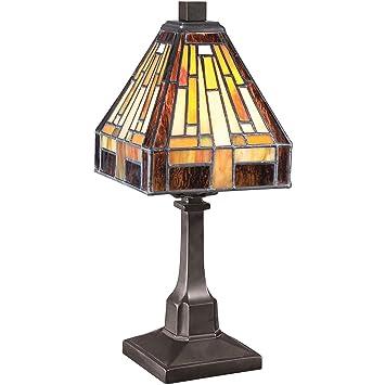 quoizel tf1018tvb stephan mini 1 light tiffany table lamp