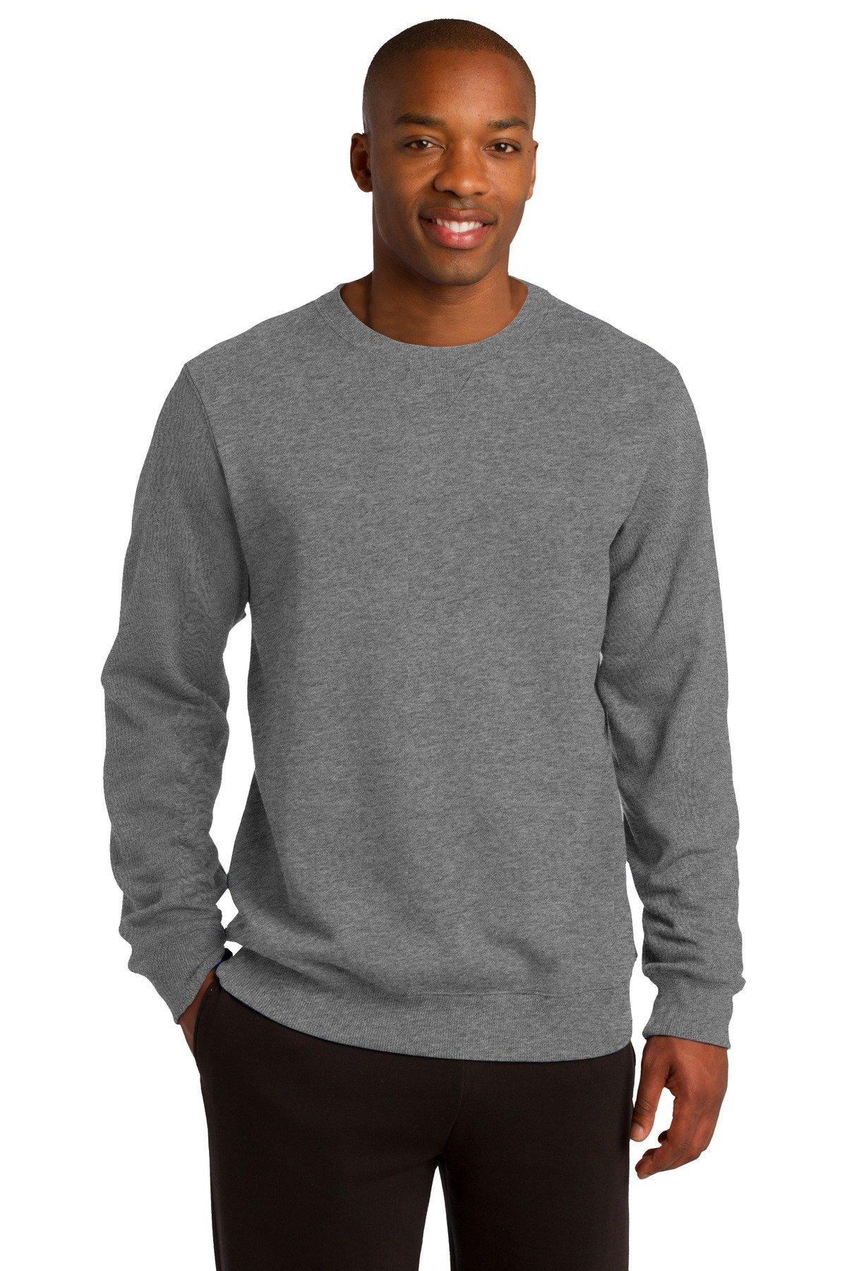 Sport-Tek Men's Crewneck Sweatshirt XL Vintage Heather by Sport-Tek