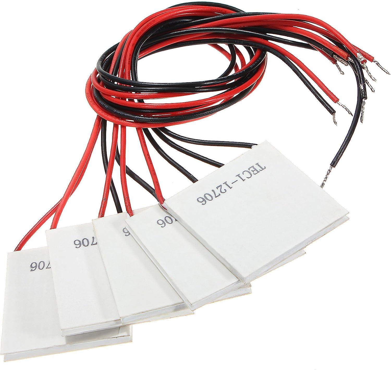 SODIAL(R) 5pcs TEC1-12706 disipador refrigerador termoelectrico ...