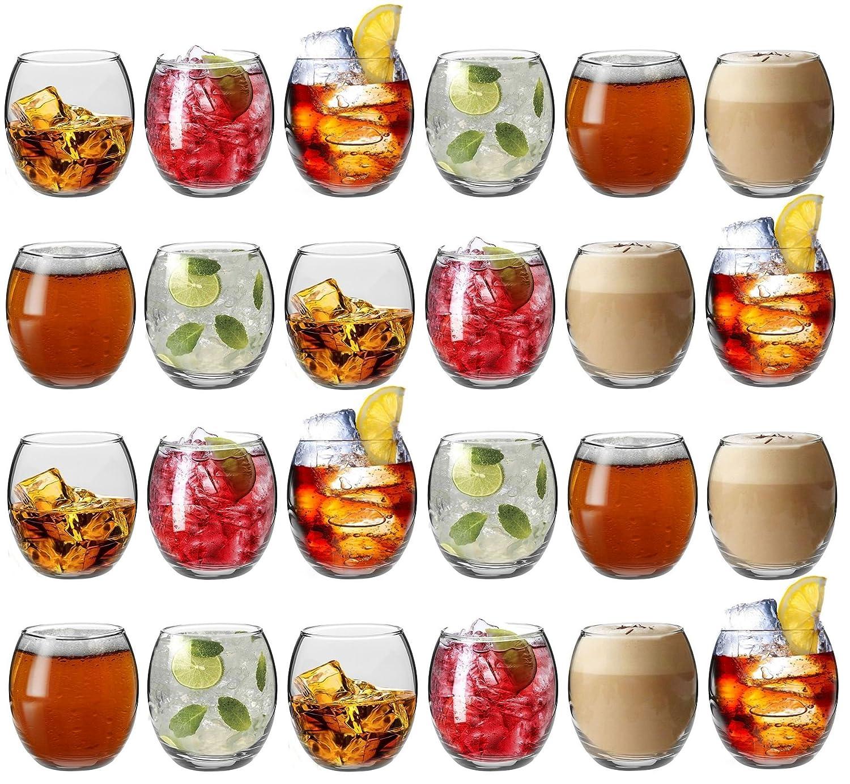 Argon Tableware Tondo Water/Whisky / Juice Tumbler Glasses - Gift Box of 24 Glasses - 405ml (14oz)