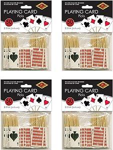Beistle Playing Card Picks 200 Piece, 2.5