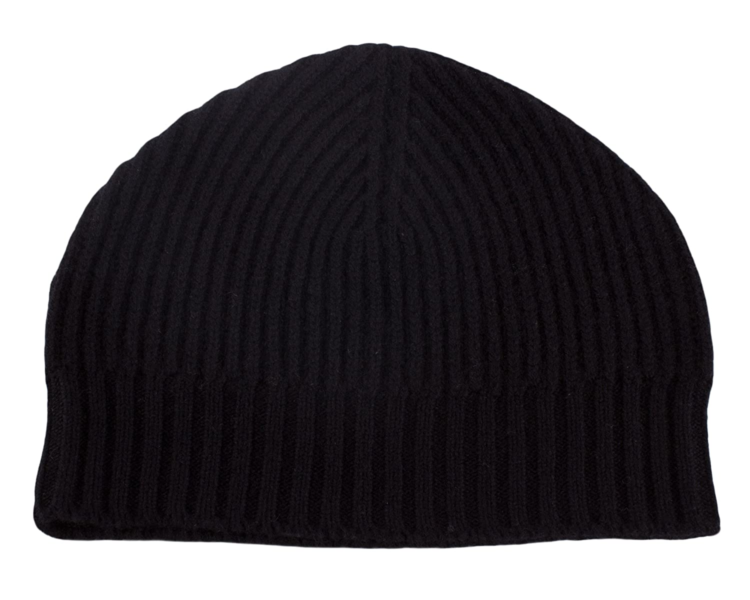 aeada80b704 Love Cashmere Mens Ribbed 100% Cashmere Beanie Hat - Black - Made in  Scotland RRP  180 at Amazon Men s Clothing store