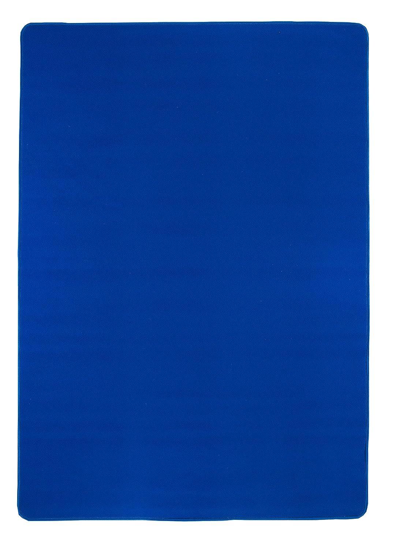 Misento Teppich Velours Kurzflorteppich Flachteppich weich Wohnzimmer Schlafzimmer Flur Essbereich 100% Polypropylen schadstofffrei strapazierfähig pflegeleicht umkettelt, 200 x 290 cm, blau