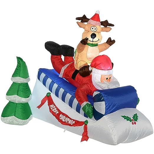 WeRChristmas - Figura decorativa navideña de Papá Noel y ...