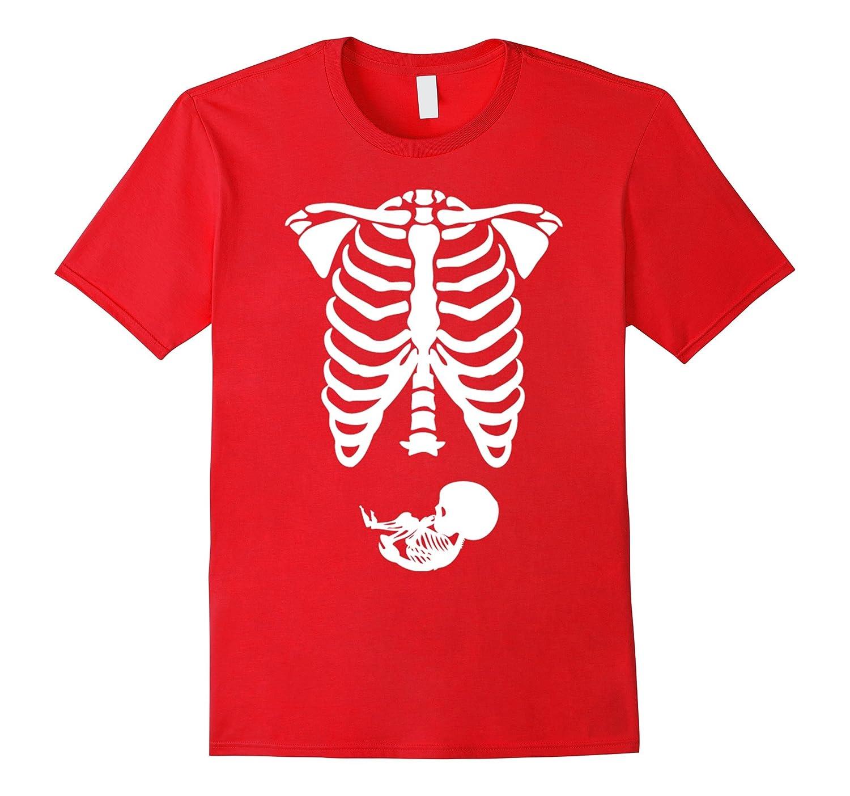 Amdesco Halloween Shirt, Pregnant Mother Skeleton Shirt