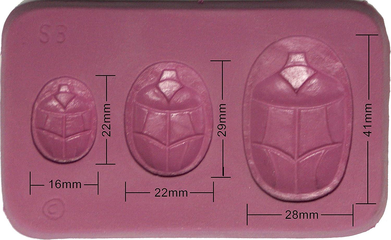 Fleximold Silicon Mold,Scarab Bottom Mold