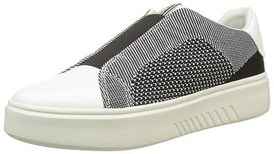 Geox D Nhenbus D, Sneakers Basses Femme, Rose (Salmon/White), 39 EU