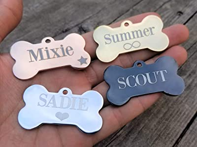Jinglrr Personalized Dog Tags Cat Tags Pet ID Tags Stainless Steel Extremely Durable Made in USA
