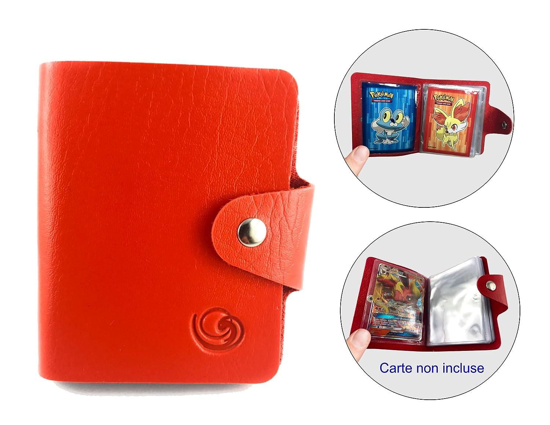 1 Mini classeur Rouge 30 Pochettes Sachet de 65 Prot/ège-Cartes Pokemon Feunnec