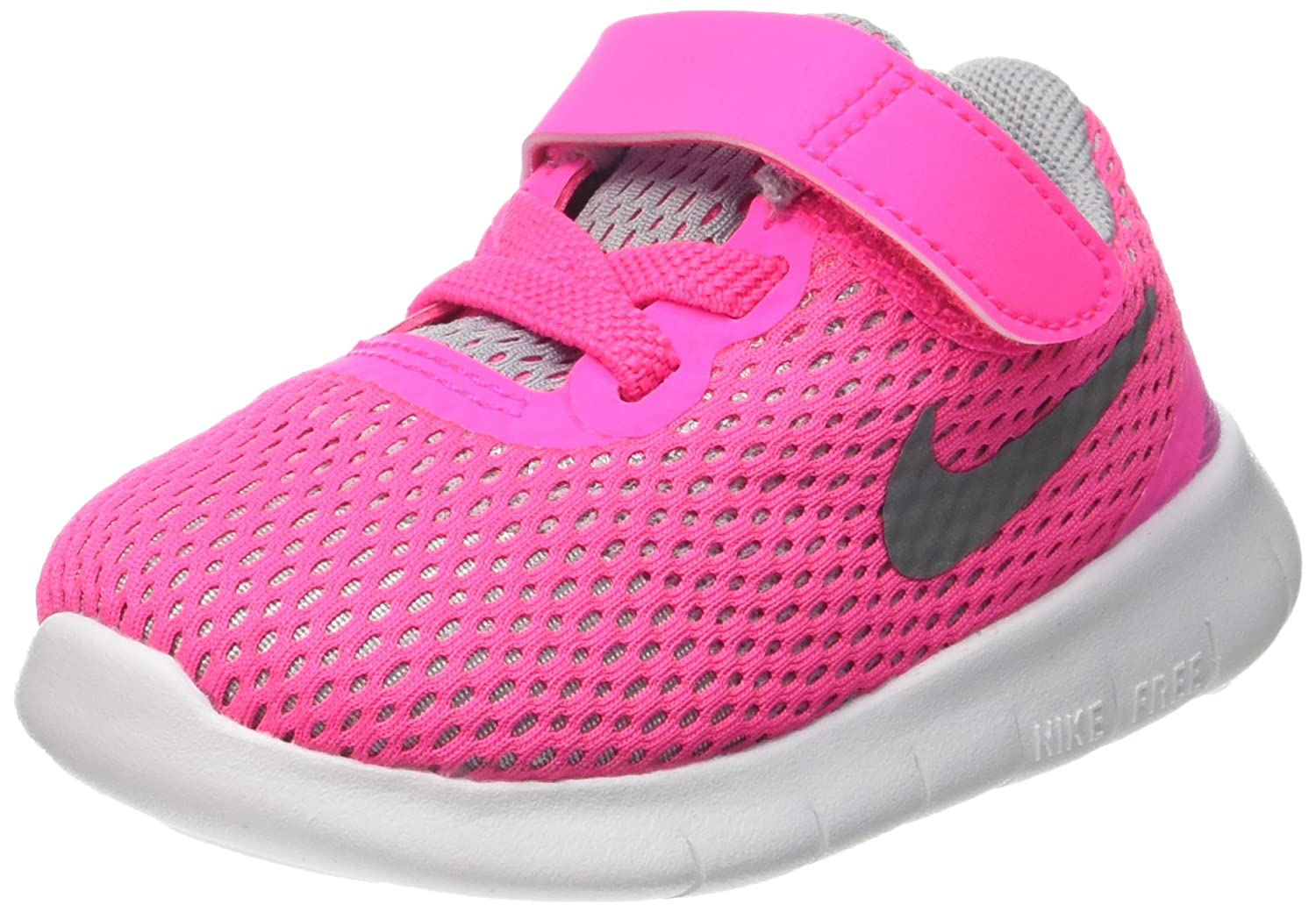 90ff90492900 Nike Free RN (TDV) Toddlers Shoes Pink Blast Metallic Silver-White  834042-600 (6)  Buy Online at Low Prices in India - Amazon.in