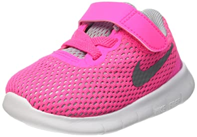 Nike Free RN (TDV) Toddlers Shoes Pink Blast/Metallic Silver-White 834042