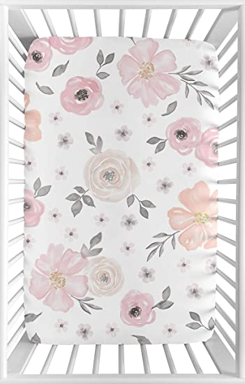 Amazon.com: Color rosa y gris bebé o Mini Cuna portátil ...