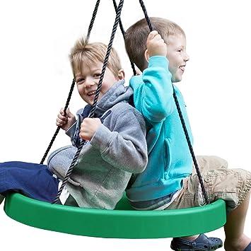 amazon com super spinner swing fun 27 safe solid seat swing set