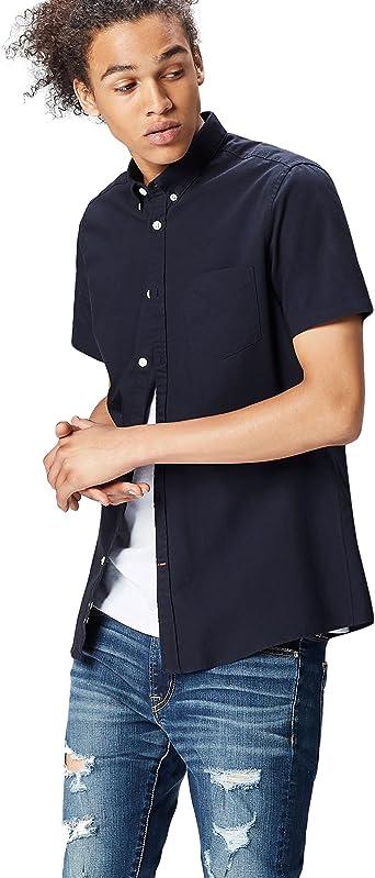 find. Camisa Clásica Manga Corta Hombre, Azul (Navy), XX-Large: Amazon.es: Ropa y accesorios