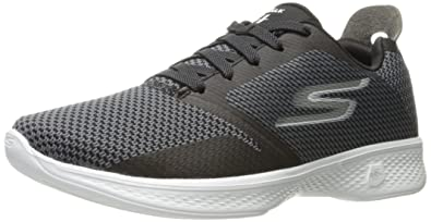 Skechers Performance Women's Go 4-14914 Walking Shoe,Black/White,5 M