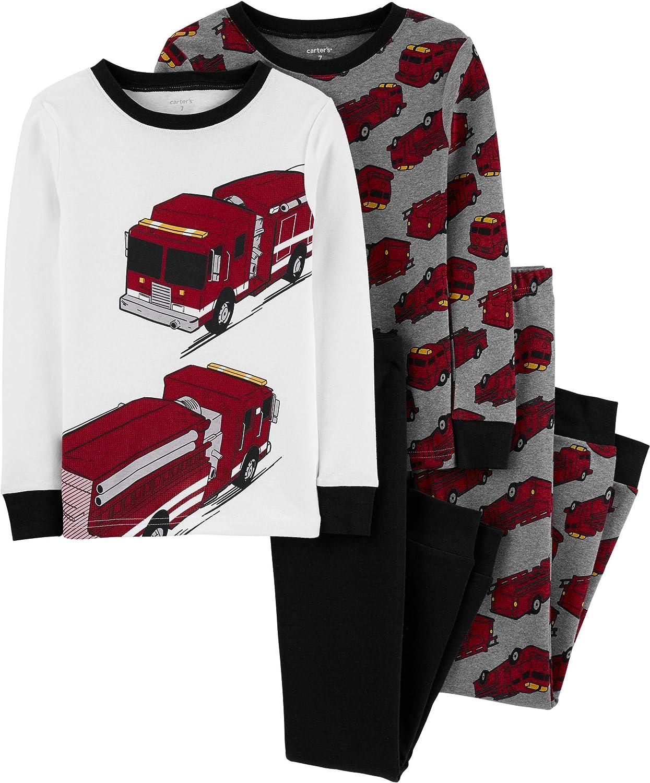 Carters Boys 4-Piece Snug Fit Cotton Pajama PJs