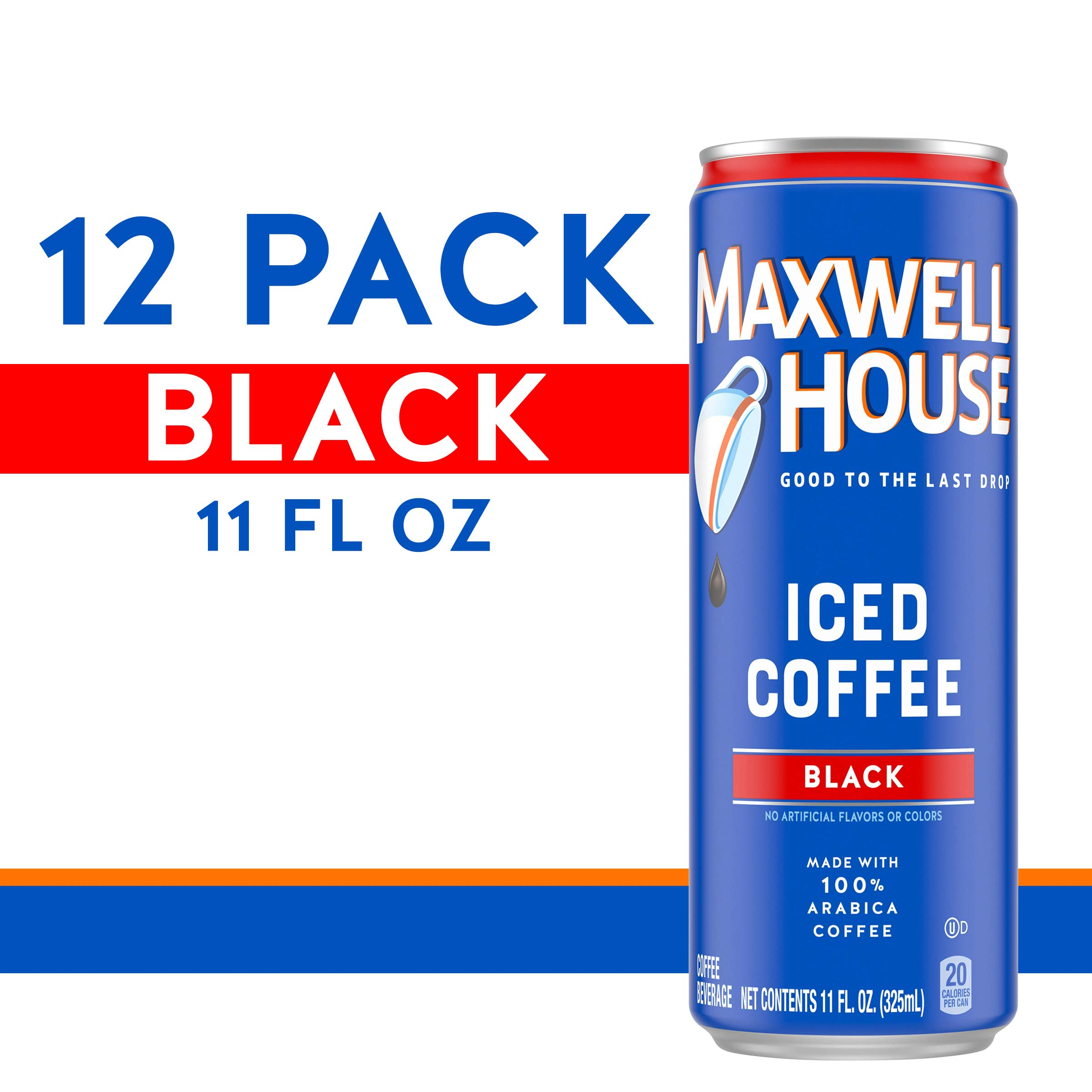 Maxwell House Black Iced Ready to Drink Coffee (11 oz Can, Pack of 12) by MAXWELL HOUSE