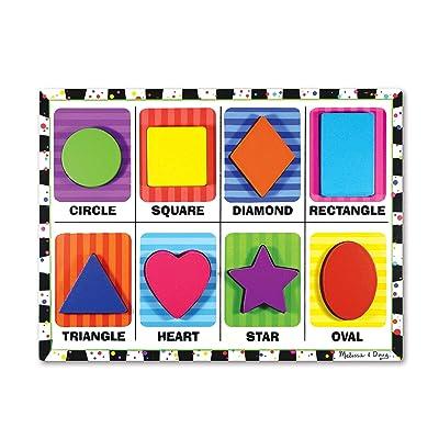 Melissa & Doug Shapes Chunky Puzzle: Melissa & Doug: Toys & Games