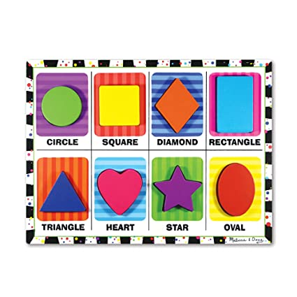 Melissa & Doug 3730 Shapes Chunky Puzzle, Multi Color