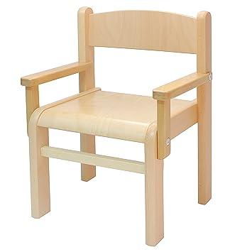 Obique Childrenu0027s Furniture Solid Beech Wood One Childrenu0027s Chair Armrest  Natural Varnish