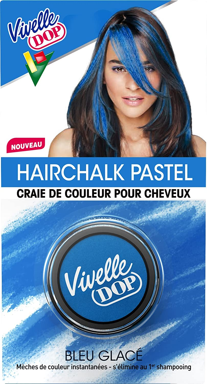 vivelle dop hairchalk pastel craie de couleur pour cheveux coloration phmre bleu glac 38 g amazonfr beaut et parfum - Coloration Cheveux Craie