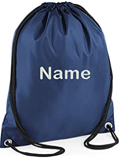 70cbb63535 EMBROIDERED Personalised Drawstring GYM Bag, Any Name, Gym,School, Nursery,…