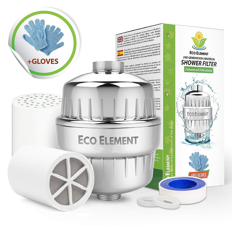 fl/úor y productos qu/ímicos duros. cloramina 10 Etapas Purificador de Agua para Filtar cloro e impureza Cuidar su Piel y Salud Elimina cloro Filtro de Ducha Universal de