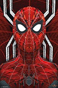 """Trends International Marvel Cinematic Universe - Spider-Man - Far from Home - Web Tech Wall Poster, 22.375"""" x 34"""", Unframed Version"""