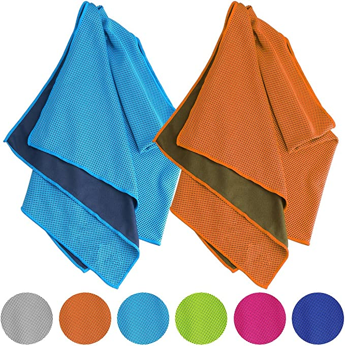 Running Workout Enduracool Towels for Neck/&Head CLOSUNT Cooling Towel 4 Pack 40x12 Stay Cool Towel for Yoga Golf Fitness Instant Cooling Relief/&Ice Cold Quickly Gym Sport