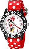 Disney Kids' W002373 Minnie Mouse Time Teacher Watch with Red Band