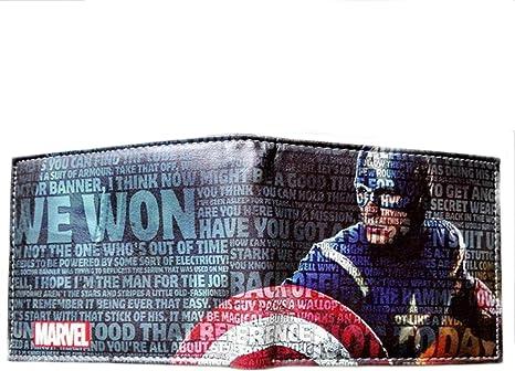 Outlander Gear Marvel Comics Los Vengadores Capitán América Bi-fold de hombre Niños Tipo Cartera en caja de regalo: Amazon.es: Deportes y aire libre
