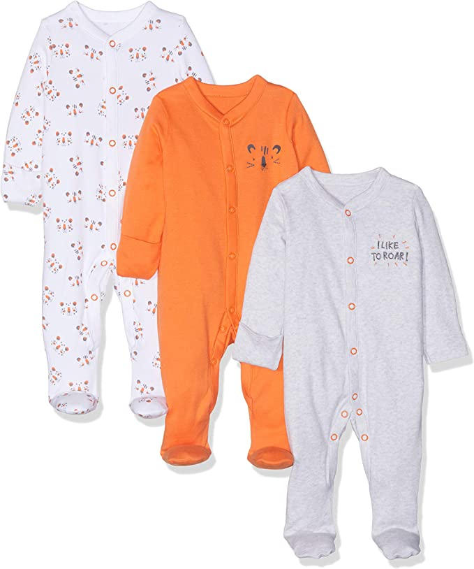 Mothercare 3 Baby Night Wear Blue Continuity Sleepsuits 1-3 Months 100/% Cotton