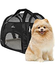 PetTech Pet Carrier for Small Dogs, Cats, Puppies, Kittens, Pets, Collapsible, Travel Friendly, Cozy and Soft Dog Bed, Carry Your Pet with You Safely and Comfortably