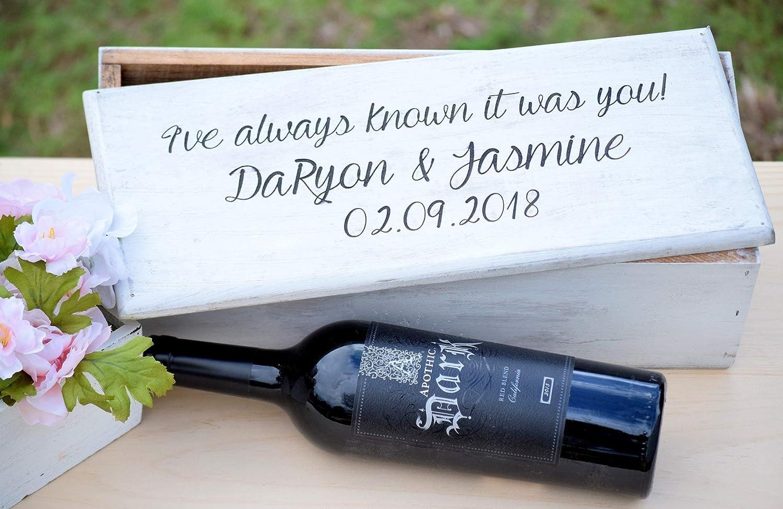 Amazon Com Ceremony Wine Box Wedding Wine Box First Fight Box