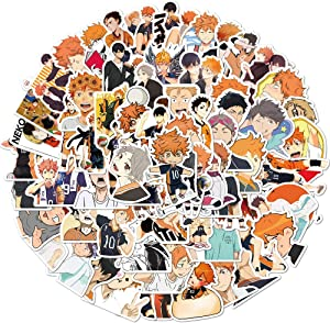 Volleyball Juvenile Anime Stickers for Water Bottle Hydro Flask Laptop Luggage Car Bike Bicycle Waterproof Vinyl Stickers for Adults Girls Teens (52PCS)