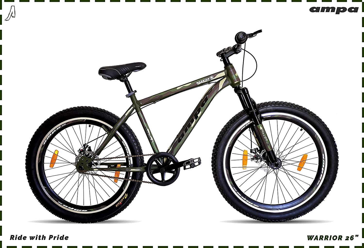 Ampa Cycle for Adults with Front Shocker and Dual Disc Brakes