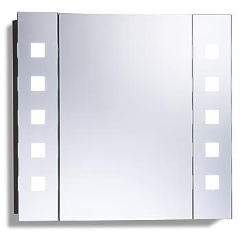 LED beleuchteter Badezimmer Spiegelschrank mit Licht (Tageslichtweiß ...