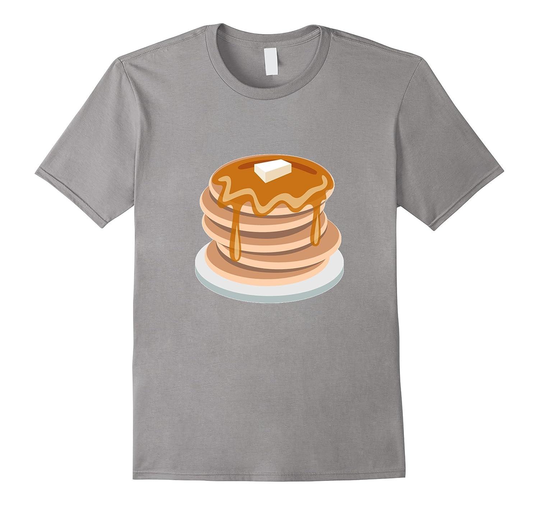 Pancake Emoji T-Shirt Syrup Butter Breakfast Waffles Plate-T-Shirt
