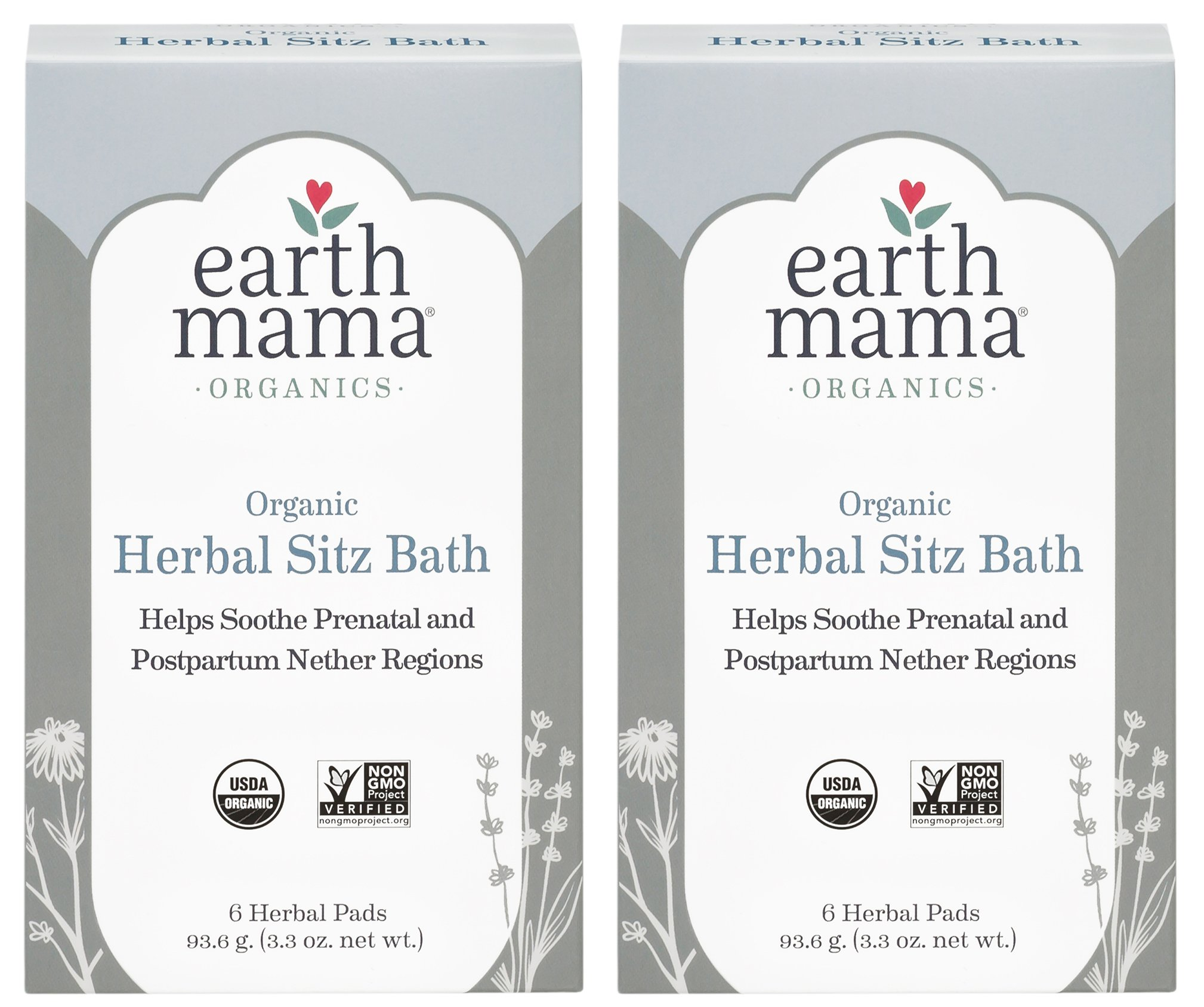 Organic Herbal Sitz Bath by Earth Mama | Soothing Soak for Pregnancy and Postpartum Care, 6-Count (2-Pack) by Earth Mama