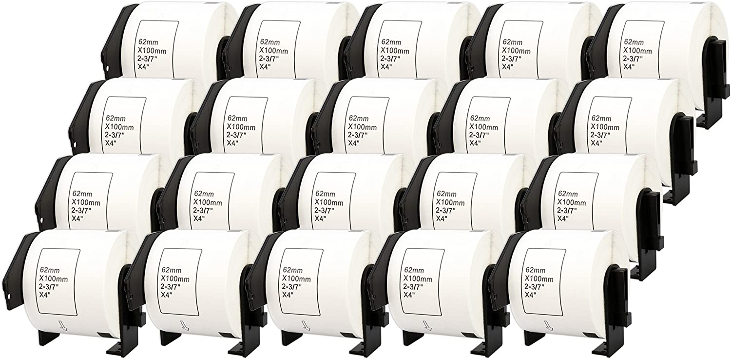 300 Labels per Roll 10x DK-11202 62 x 100mm Compatible Shipping Labels Rolls for Brother P-Touch QL-1110NWB QL-1100 QL-1060N QL-500 QL-500BW QL-570 QL-580 QL-700 QL-710W QL-800 QL-810W QL-820NWB