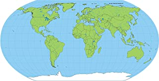 """product image for 8"""" x 16"""" Unlabeled World Practice Map, 30 Sheets in a Pack for Social Studies, Geography, Map Activities, Drill and Practice, Current Event Activities, Learning Games and More"""