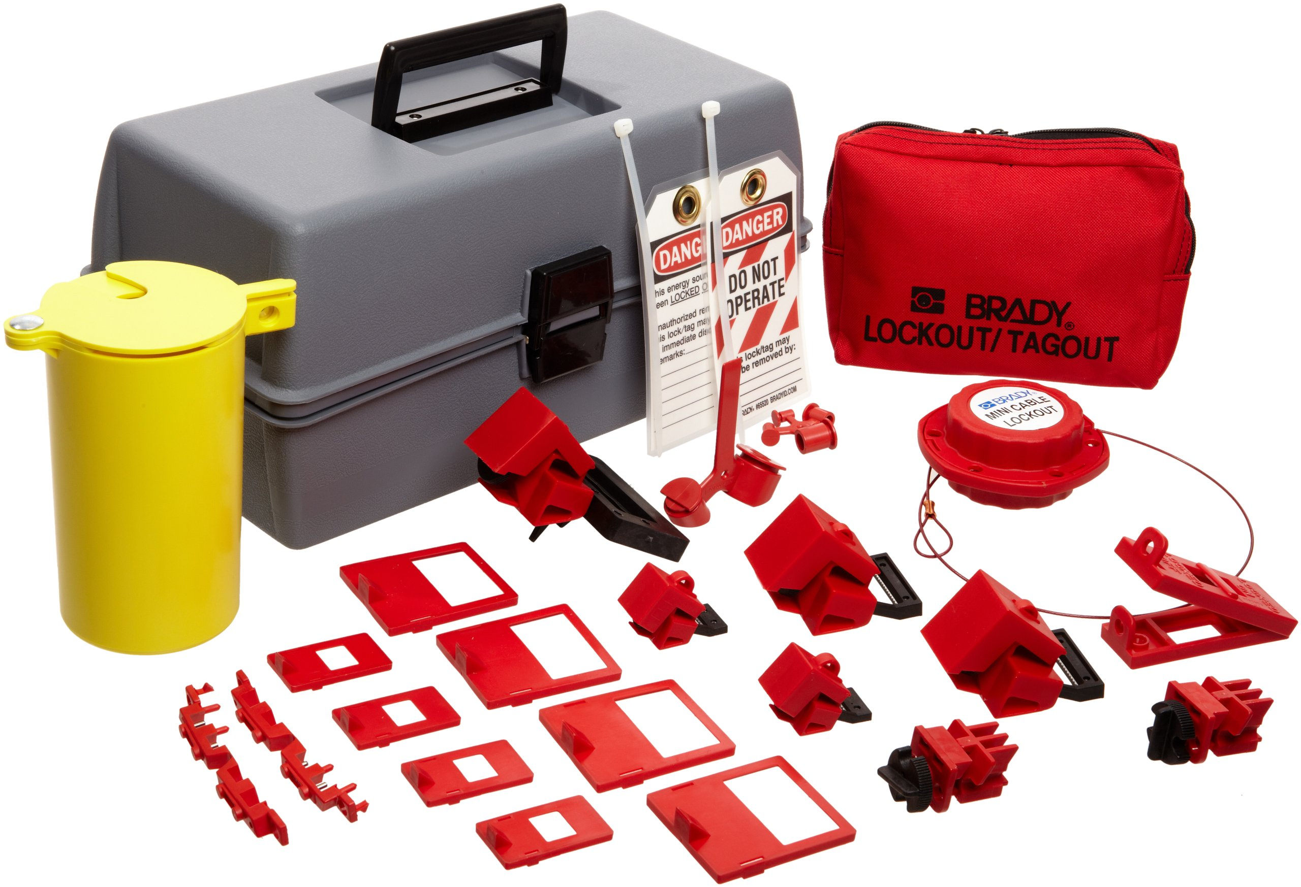 Brady Electrical Lockout Toolbox Kit, Includes Safety Padlocks and Tags