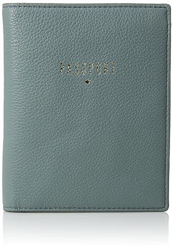 Fossil Rfid Passport Case Steel Blue Wallet
