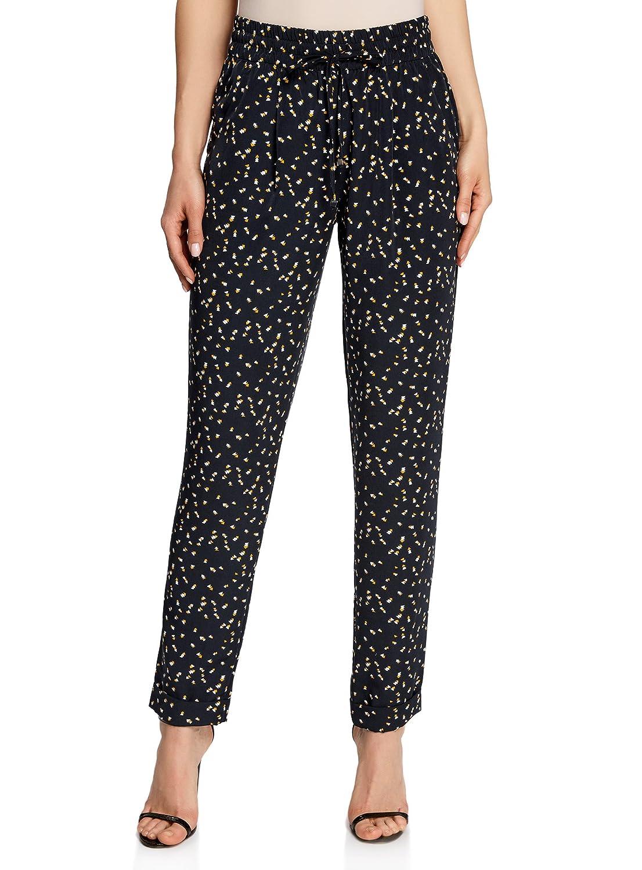 TALLA ES 36 / XS. oodji Collection Mujer Pantalones Ligeros de Tejido Fluido