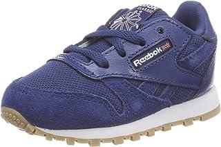 Reebok Classic Leather Estl, Sneakers Basses Mixte bébé Chaussures de Fitness Mixte Enfant Bleu (Washed Blue/White 000) 22.5 EU CN1138