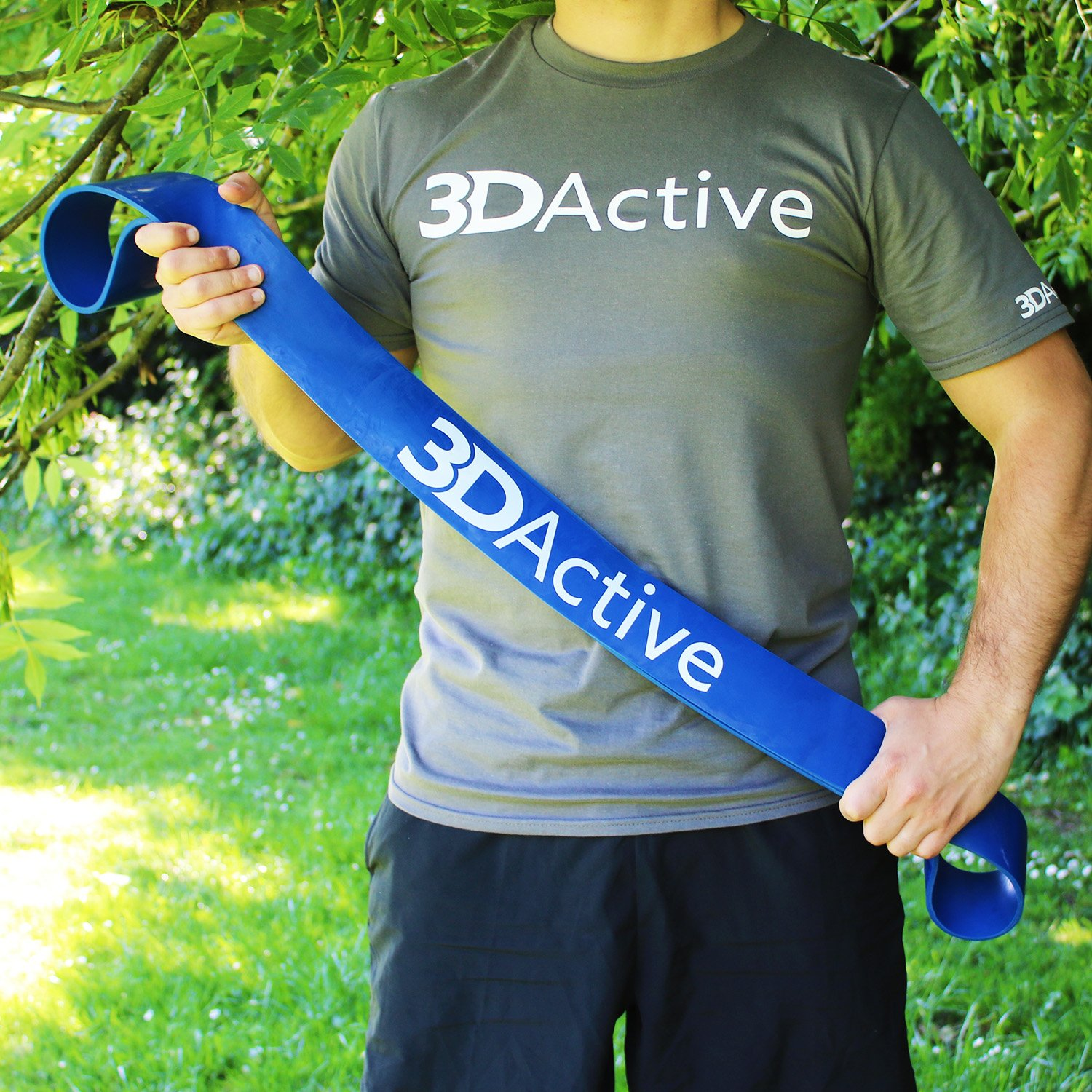 Powerlifting Bands Stretch Resistance Band 3DActive Pull Up Assist Bands Perfect for Body Stretching /& Resistance Training Carry Bag /& Free eBook Included Mobility Band Single Band or Set