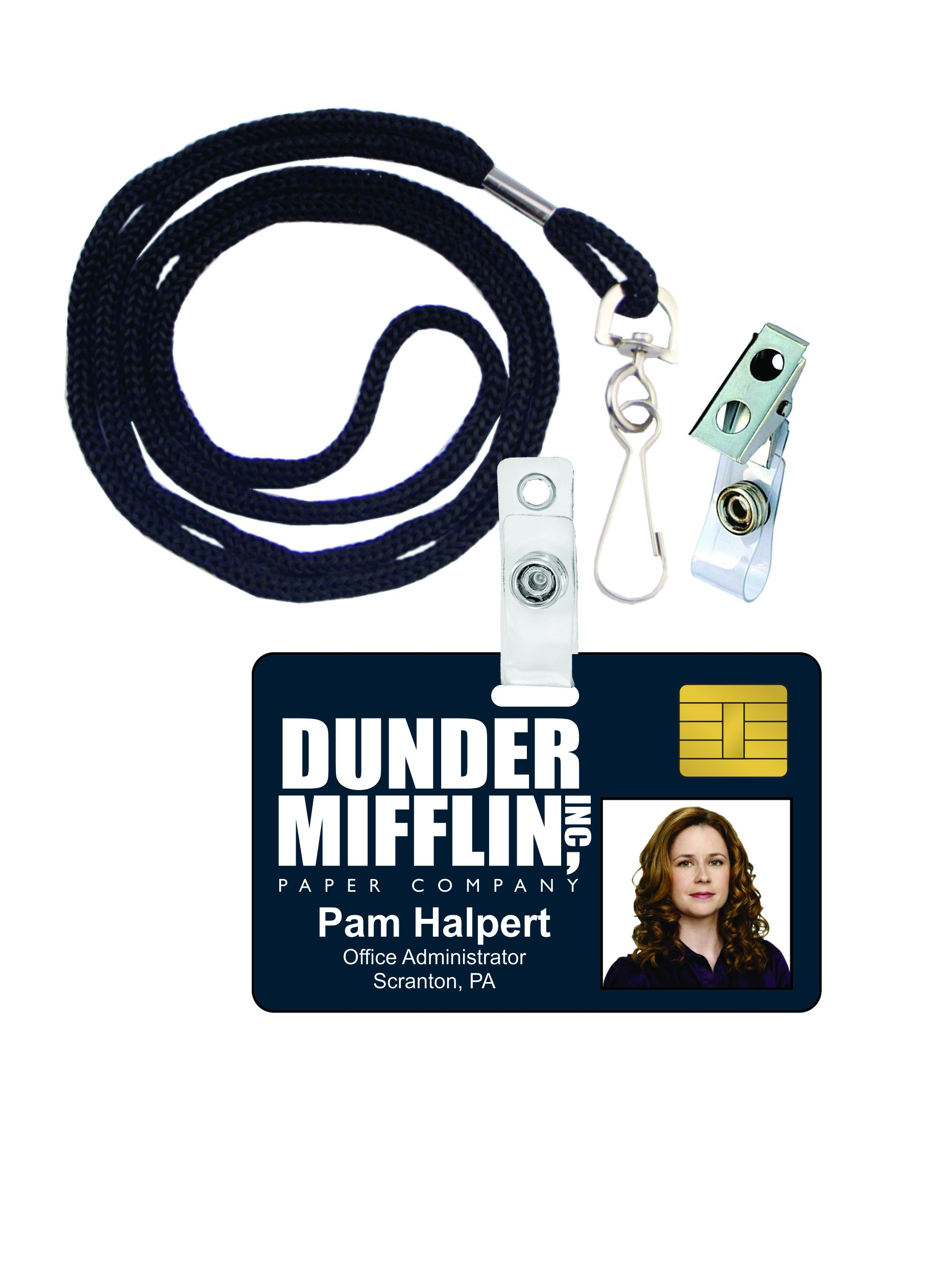 Pam Halpert The Office Novelty ID Badge Film Prop for Costume and Cosplay • Halloween and Party Accessories